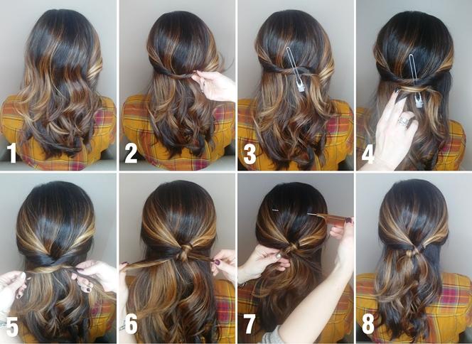 Half Up Twist Hairstyle Tutorial | Simonson\'s Salon & Spa ...